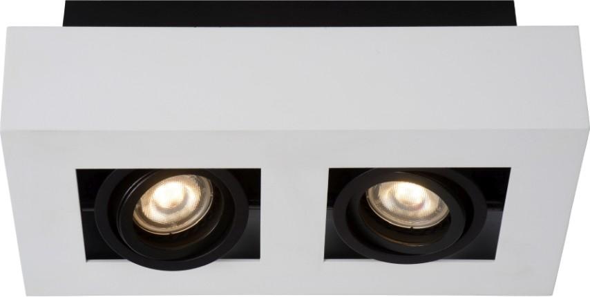 Lucide Plafondspot Xirax GU10 2-Lichts Dimbaar - Wit