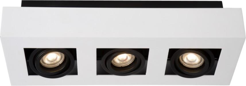 Lucide Plafondspot Xirax GU10 3-Lichts Dimbaar - Wit