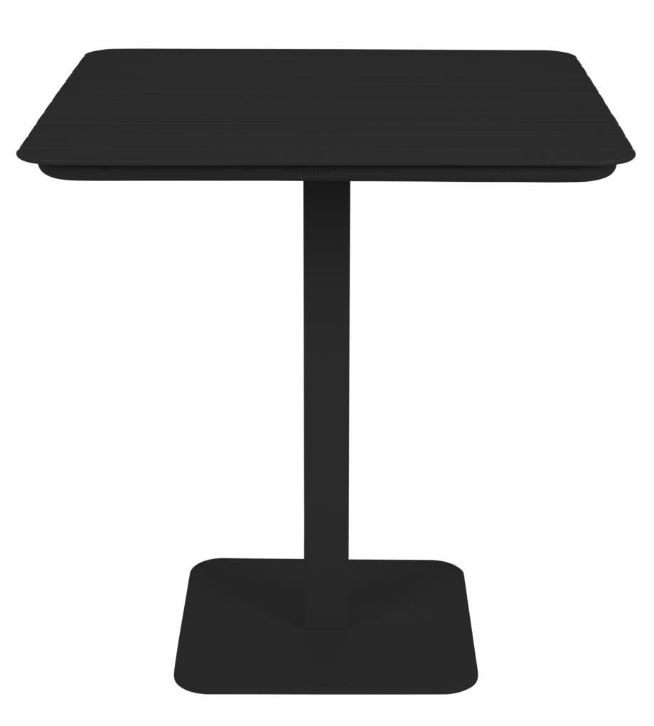 Zuiver Vondel Bistro Tuintafel - L71 X B71 X H75 Cm - Aluminium Zwart