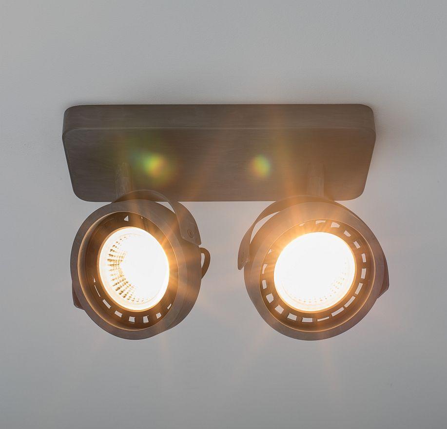 Zuiver Dice-2 Plafondspot - DTW Dim To Warm Dimbare LED - Gegalvaniseerd Grijs