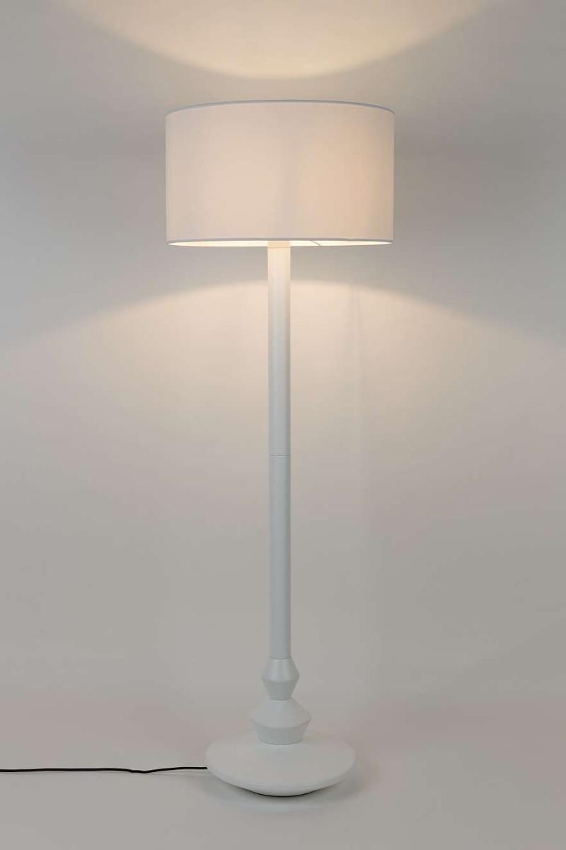 Zuiver Finlay Vloerlamp -Ø50 X H150 Cm - Wit