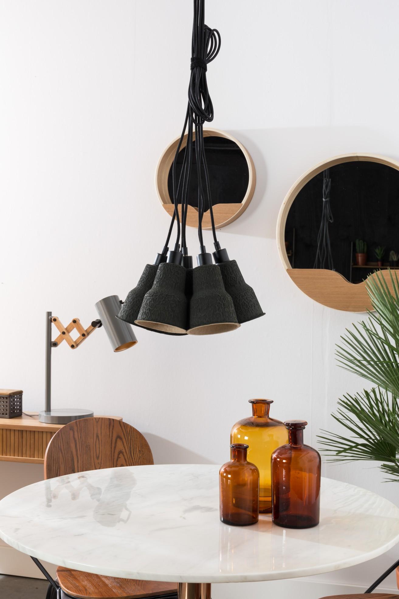 Zuiver Hanglamp Pulp Shades -Ø12 X H19 Cm - Zwart