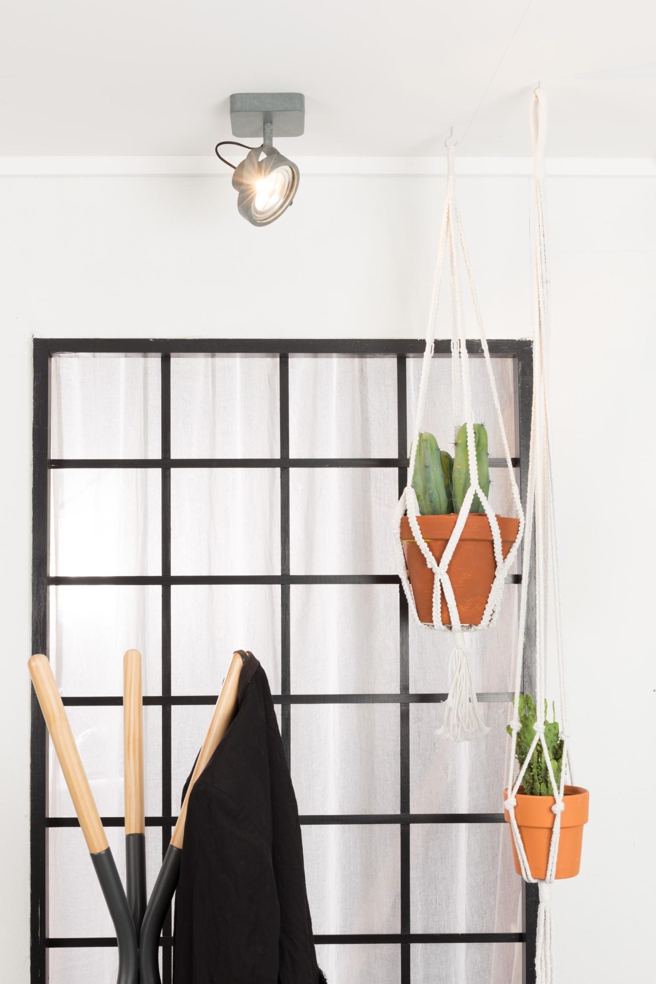 Zuiver Plafondspot Dice-1 - LED Dimbaar - Gegalvaniseerd Grijs