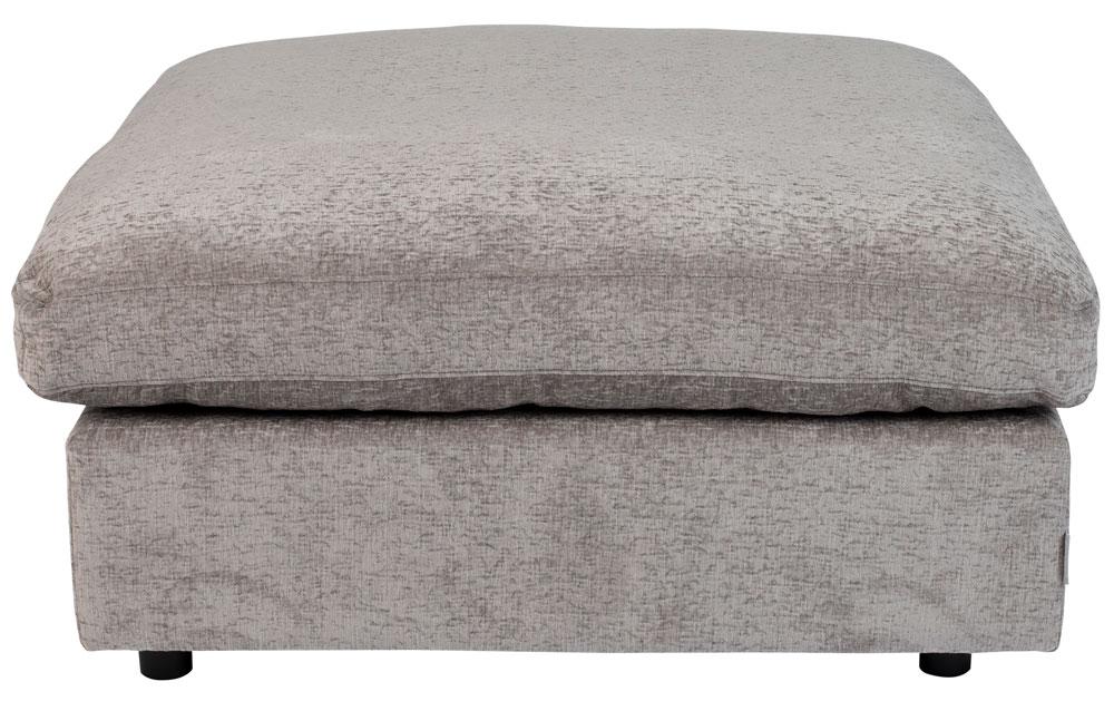 Zuiver Sense Hocker - B92 X D92 X H47 Cm - Stof Light Grey Soft - Grijs