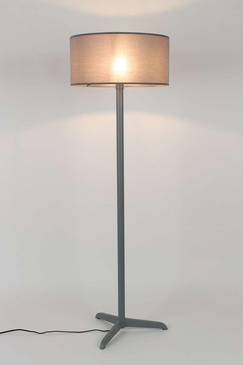 Zuiver Shelby Vloerlamp - Hoogte 155 Cm - Grijs