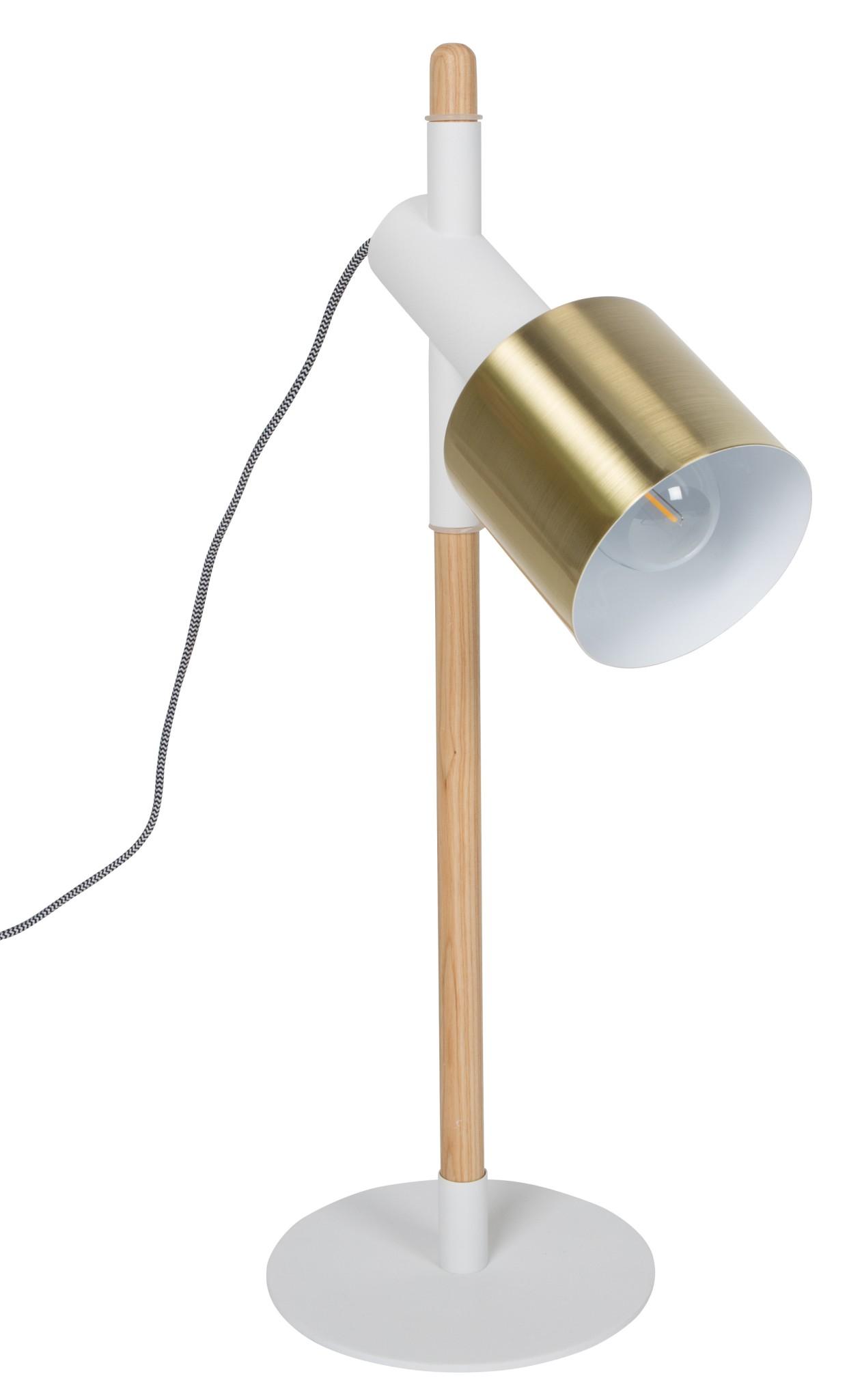 Zuiver Tafellamp Ivy -Ø20 X H60 Cm - Wit