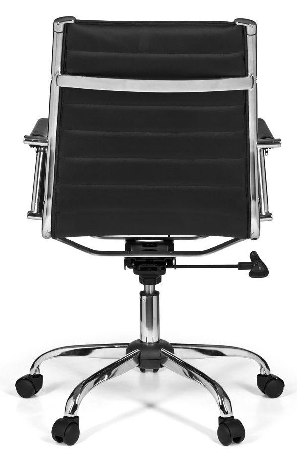 24Designs Modena Bureaustoel Lage Rugleuning - Zwart Kunstleer