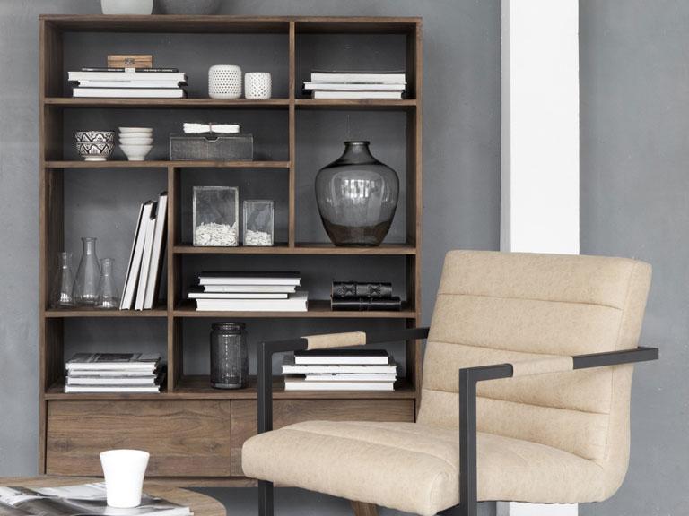 Woonkamer Met Boekenkast : Bruine woonkamer met boekenkast stock illustratie illustratie